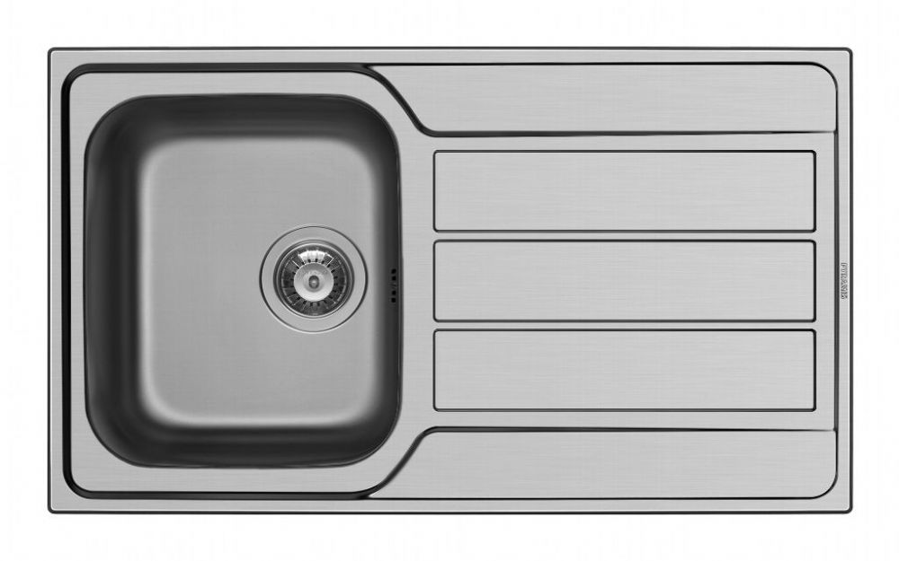 Pyramis Athena Stainless Steel Single Bowl Sink & Tap - 860 x 500mm